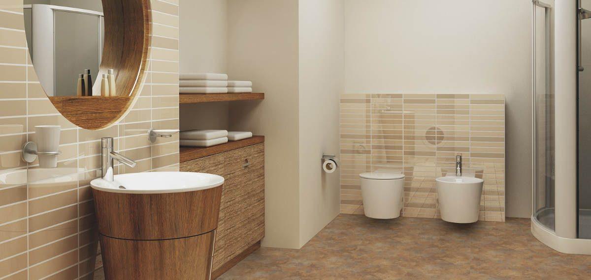 Podlahové krytiny, které můžete instalovat v koupelně na původní podlahu
