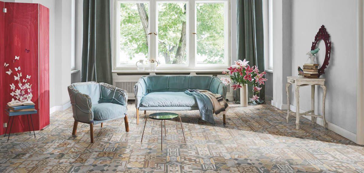 PVC a vinyl - podlahy plné barev